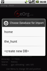 Importing a GPX-file via mail : GeOrg – Geocaching with Android